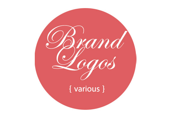 Various brand logos from concept to all production materials