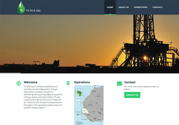 Oil and Gas company website, brand design and responsive website <br/><a href='http://dev.t5oilandgas.com' target='_blank'>Visit website</a>