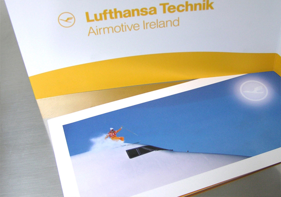 Christmas cards for Lufthansa Technik Airmotive Ireland